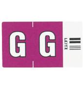 6616 Ziffernsignale Orgacolor Buchstaben G violett 23x30mm 250 Stück