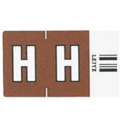 6617 Ziffernsignale Orgacolor Buchstaben H braun 23x30mm 250 Stück