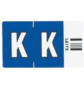 6620 Ziffernsignale Orgacolor Buchstaben K dunkelblau 23x30mm 250 Stück
