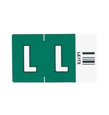 6621 Ziffernsignale Orgacolor Buchstaben L dunkelgrün 23x30mm 250 Stück