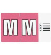 6622 Ziffernsignale Orgacolor Buchstaben M rosa 23x30mm 250 Stück