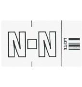 6623 Ziffernsignale Orgacolor Buchstaben N weiß 23x30mm 250 Stück