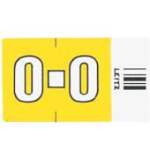 6624 Ziffernsignale Orgacolor Buchstaben O gelb 23x30mm 250 Stück