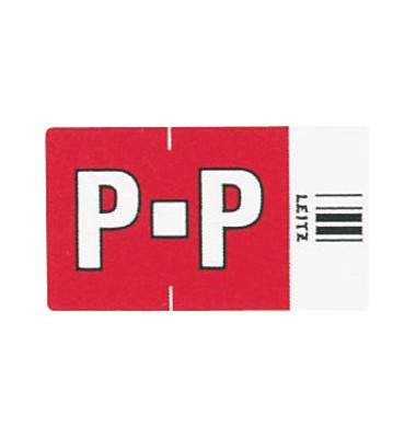 6625 Ziffernsignale Orgacolor Buchstaben P rot 23x30mm 250 Stück
