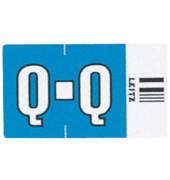6626 Ziffernsignale Orgacolor Buchstaben Q blau 23x30mm 250 Stück