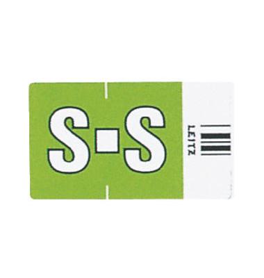 6628 Ziffernsignale Orgacolor Buchstaben S grün 23x30mm 250 Stück