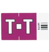 6629 Ziffernsignale Orgacolor Buchstaben T violett 23x30mm 250 Stück
