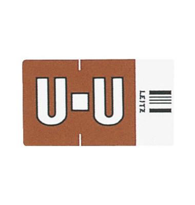 6630 Ziffernsignale Orgacolor Buchstaben U braun 23x30mm 250 Stück