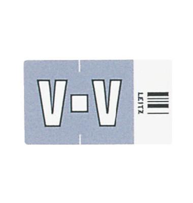 6631 Ziffernsignale Orgacolor Buchstaben V grau 23x30mm 250 Stück