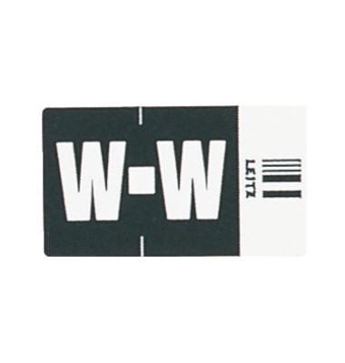 6632 Ziffernsignale Orgacolor Buchstaben W schwarz 23x30mm 250 Stück