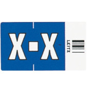 6633 Ziffernsignale Orgacolor Buchstaben X dunkelblau 23x30mm 250 Stück