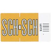 6636 Ziffernsignale Orgacolor Buchstaben SCH orange 23x30mm 250 Stück