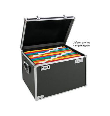 Hängemappenbox Vaultz Mobile 6714 schwarz/chrom bis 30 Mappen leer