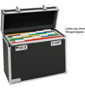 Hängemappenbox Vaultz Mobile 6716 schwarz/chrom bis 15 Mappen leer