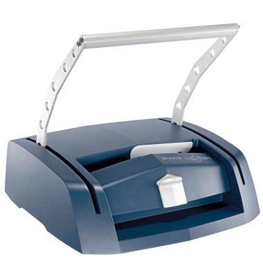 Buchbindegerät impressBIND 280 silber/blau für A4 7388