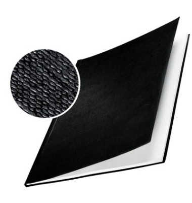 Buchbindemappen A4 schwarz Rücken:3,5mm Hardcover 10 Stück
