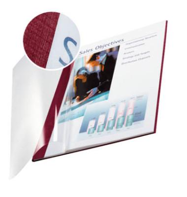 Buchbindemappen f.10-35 Blatt bordeaux A4,Softcover 10 St