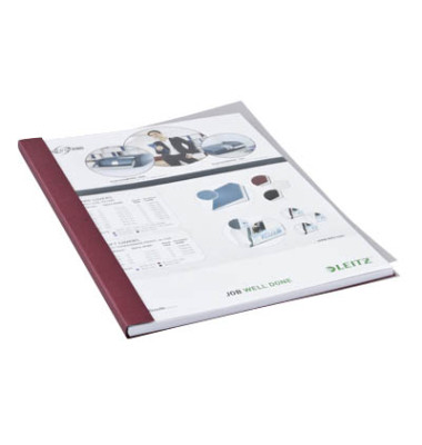 Buchbindemappen f.36-70 Blatt bordeaux A4,Softcover 10 Stück
