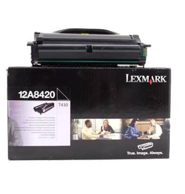 Toner 12A8420 Rückgabekassette schwarz ca 6000 Seiten