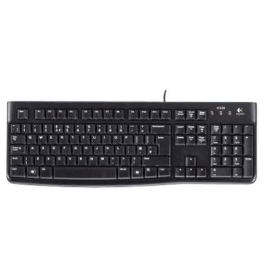 PC-Tastatur K120, mit Kabel (USB), schwarz