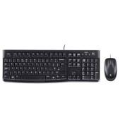 Maus-Tastatur-Set Wired Desktop MK120 USB Kabel schwarz
