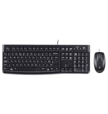 Tastatur-Maus-Set MK120, mit Kabel (USB), leise, schwarz