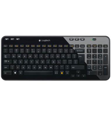 Tastatur K360 QWERTZ schwarz USB kabellos