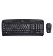 Tastatur-Maus-Set MK330, kabellos (USB-Funk), flach, leise, Sondertasten, schwarz