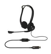 Headset PC 960 Kopfbügel USB Stereo schwarz