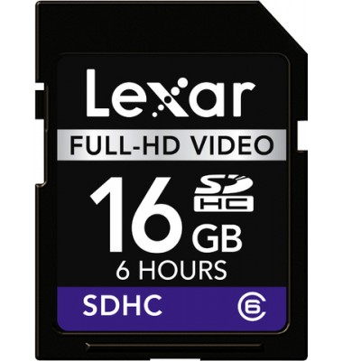 Speicherkarte Full-HD Video SDHC Card 16GB