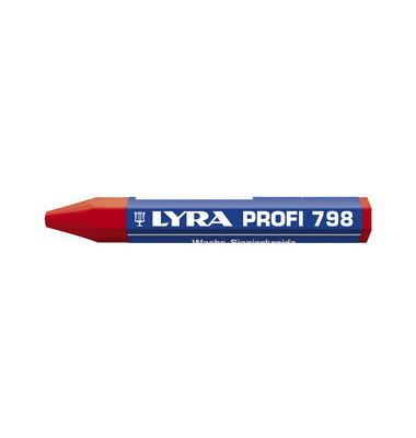 Wachssignierkreide Profi 798 rot 95x12mm 12 St