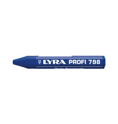Wachssignierkreide Profi 798 blau 95x12mm 12 St