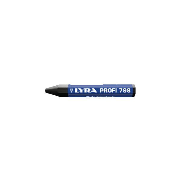 Lyra Wachssignierkreide Profi 798 schwarz 95x12mm 12 St