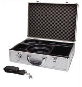 Moderationskoffer 11115 Aluminium abschließbar mit Einsatz ungefüllt