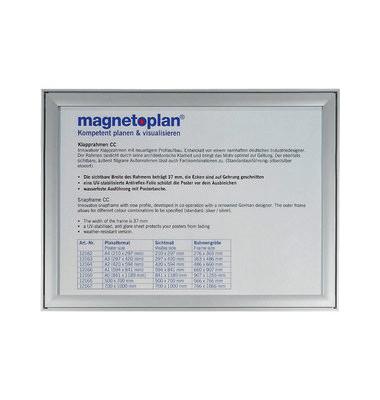 Plakat-Klapprahmen CC silber A1 mit Antireflexfolie