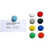 Magnete discofix hobby bis 0,3kg rund weiß 10 Stück