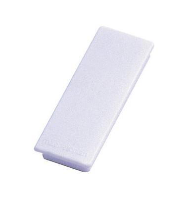 Magnete bis 1,3kg rechteckig weiß 10 Stück