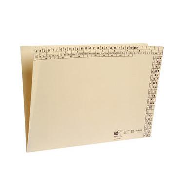 Einstellmappe A4 115-130g Karton chamois für 100 Blatt