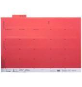Selbstklebereiter rot 55mm breit 100 Stück