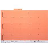 Selbstklebereiter orange 55mm breit 100 Stück