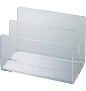 Briefständer mit 2 Fächern Acryl glasklar