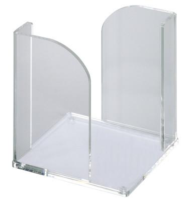 Zettelbox Acryl 101 x 101 x 107mm farblos Inhalt leer für 90 x 90mm