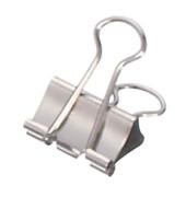 Foldbackklammern mauly 214 19 96, 19mm, Metall vernickelt silber, 12 Stück
