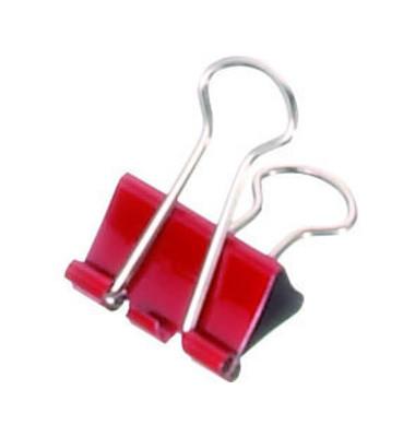 Foldbackklammern mauly 214 19 25, 19mm, Metall rot, 12 Stück