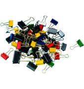Foldbackklammern mauly 215 78 99, sortiert, Metall farbig sortiert, 50 Stück