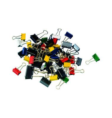 Foldbackklammern mauly Breite+Klemmbreite+Farbe sortiert 50 Stück