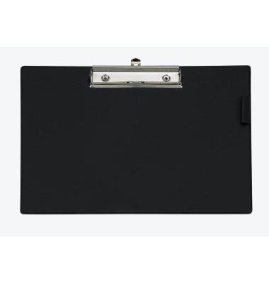 Klemmbrett 233-57-90 A4 schwarz 329x233mm Kunststoff mit Aufhängeöse