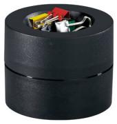Foldback-Klammernspender rund gefüllt schwarz