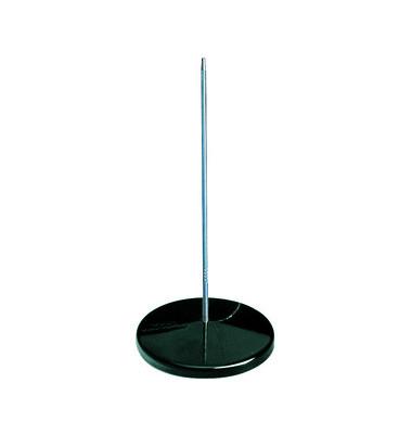 Zettelspießer ohne Schutzknopf schwarz 170mm hoch rostfrei