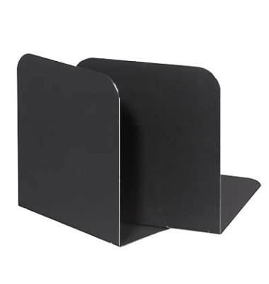 Buchstützen 35062 schwarz 140 x 120 x 140 mm 2 Stück